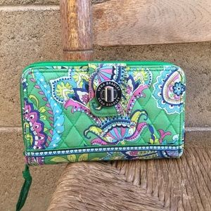 Vera Bradley Wallet Quilted Material